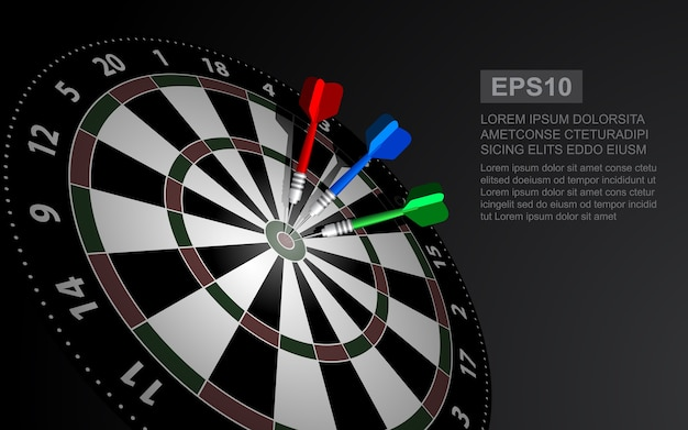 Dartboard vector illustration isolated for darts game