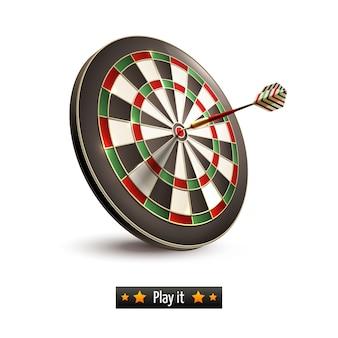 Darts board isolated