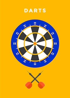 Darts game sport illustration
