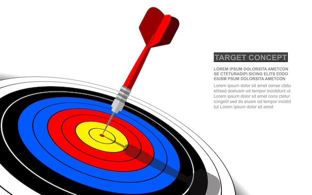 Darts target vector success business solutions concept.