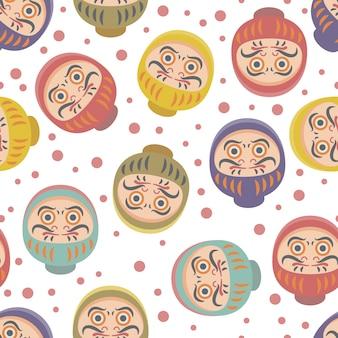Daruma pattern background