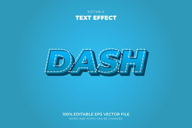 Костюм dash text effect