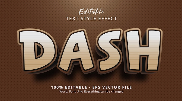 Dash text on headline poster style effect, editable text effect