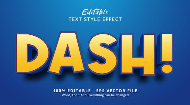 太字の見出しスタイルの効果、編集可能なテキスト効果のダッシュテキスト