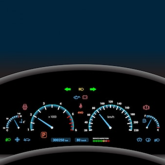 Dashboard background with color signals