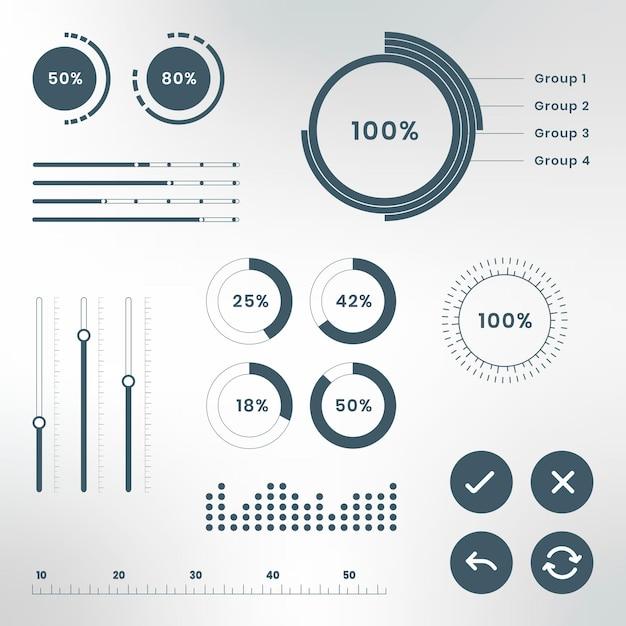 ダッシュボードビジネスデータのインフォグラフィック