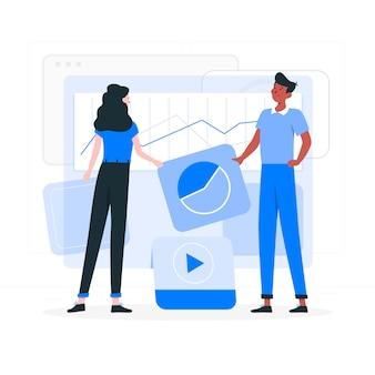 Иллюстрация концепции приборной панели