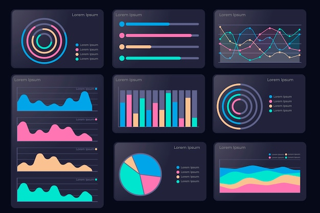 Dashboard element pack colorful design