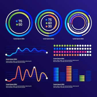 Dashboard element pack template