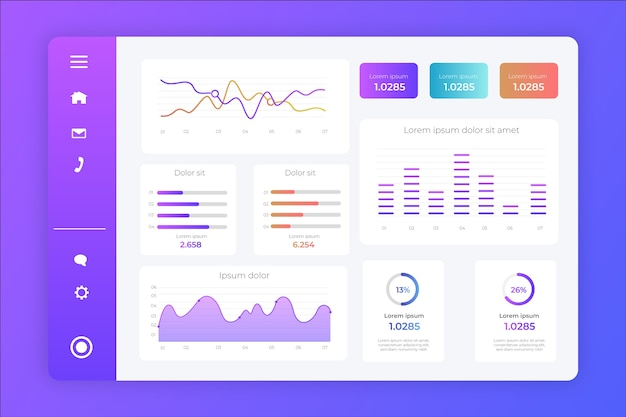 Dashboard gradient user panel template