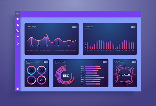 Dashboard, great  for any site purposes. business info template.