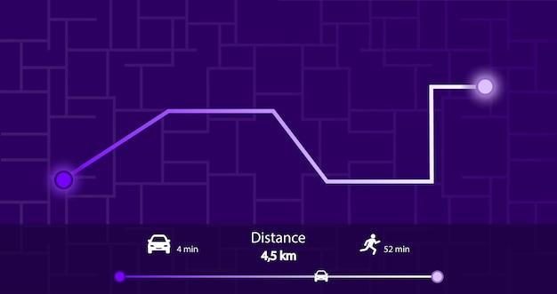 Dashboard infographic of city map navigation. navigation system.