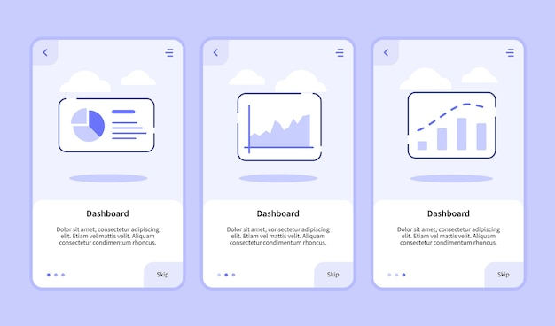 Dashboard onboarding screen