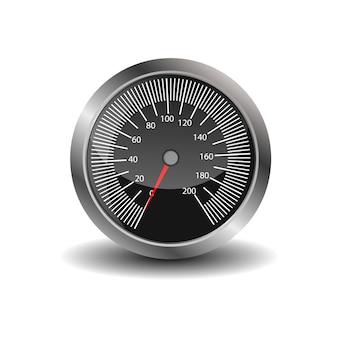 Dashboard - speedometer. collection of speedometers, tachometers.