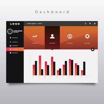 Dashboard template with bars