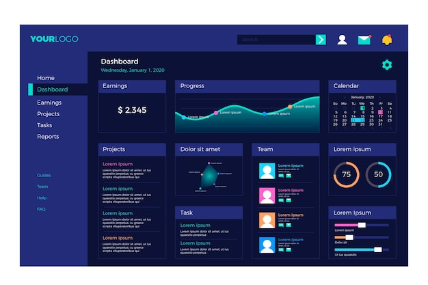 Dashboard user panel