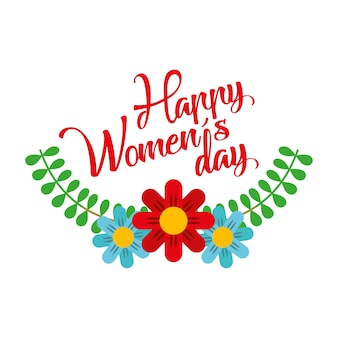Dasiy flowers decoration leaves happy womens day