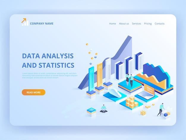 データ分析と統計のランディングページ。