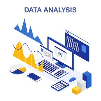 データ分析。ビジネス調査、計画、統計