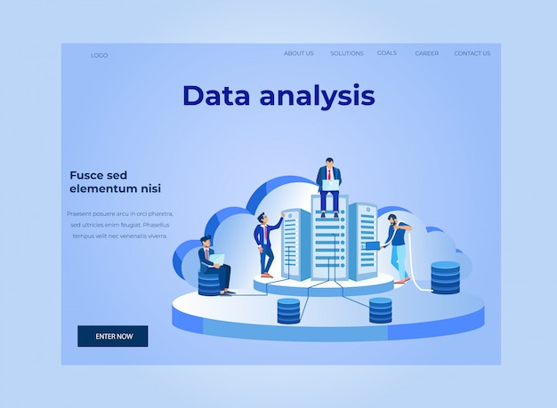 Data analysis and cloud database landing page