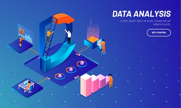 Data analysis concept based web template.