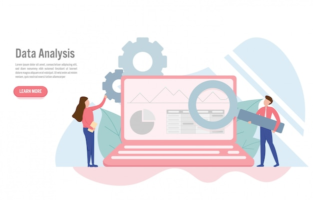 Data analysis concept in flat design