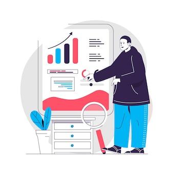 Data analysis concept illustration