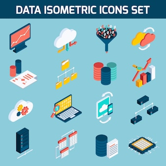 Data analysis icons