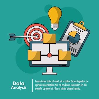 Data analysis infographic concept