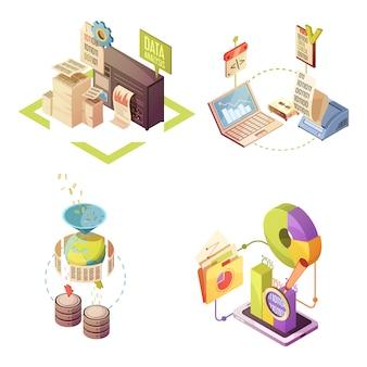 Composizioni isometriche di analisi dei dati con elaborazione di raccolta delle informazioni
