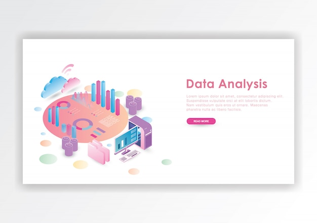 Data analysis isometric design  template