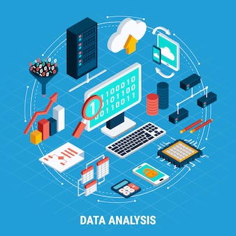 Data analysis isometric set