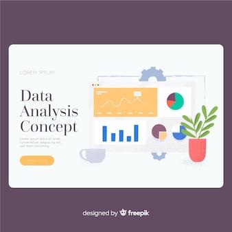 Modello di pagina di destinazione dell'analisi dei dati