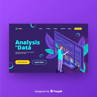 Data analysis landing page