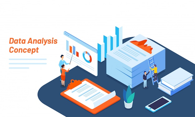Data analysis responsive web template design.