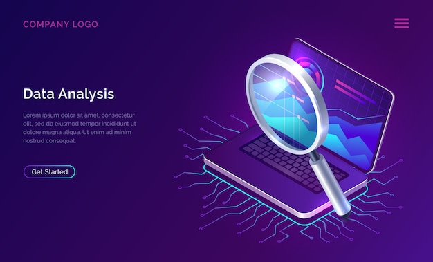 Data analysis search engine optimization isometric