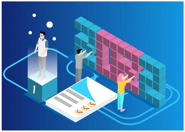 Data analysis and statistics concept.