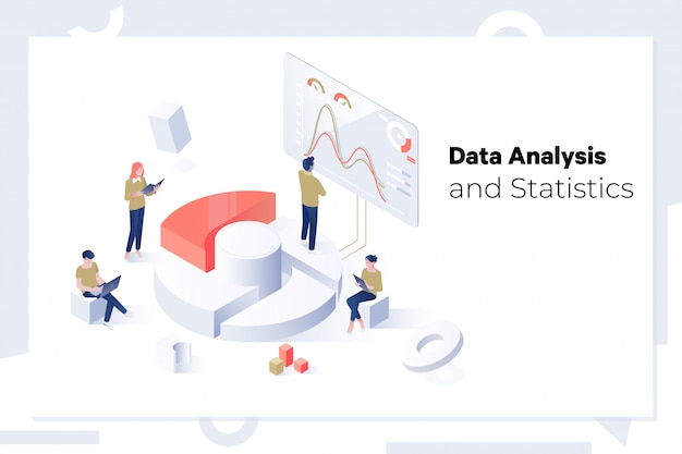Data analysis and statistics concept