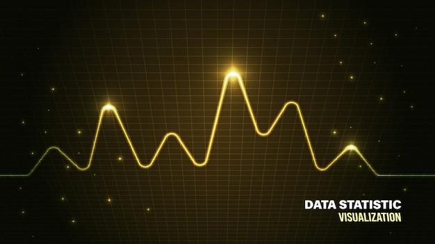 Data analysis visualization background
