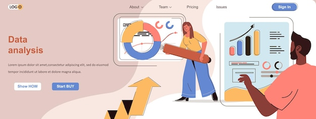 Data analysis web concept business analytics accounting research statistics