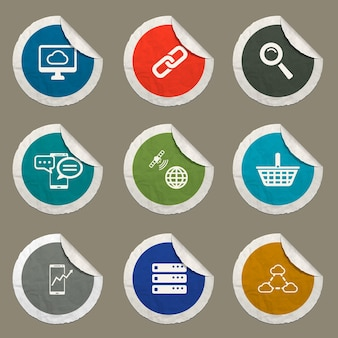 Webサイトとユーザーインターフェイスに設定されたデータ分析アイコン