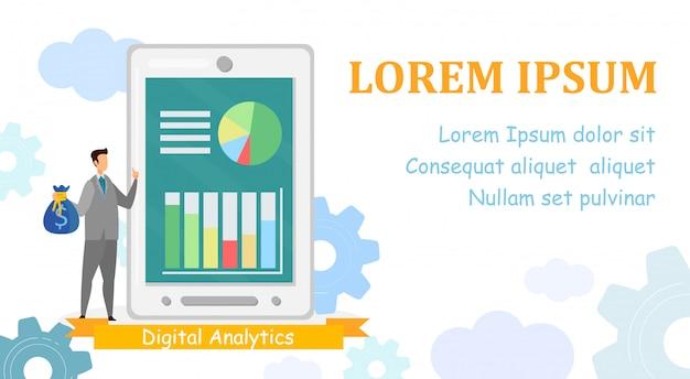 Data analytics app web banner template
