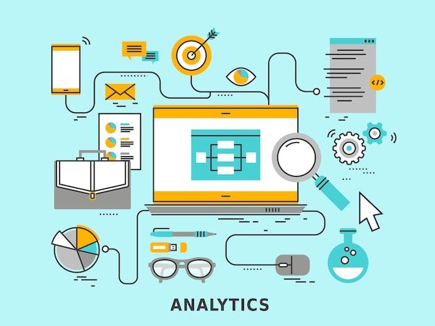Data analytics concept in   style