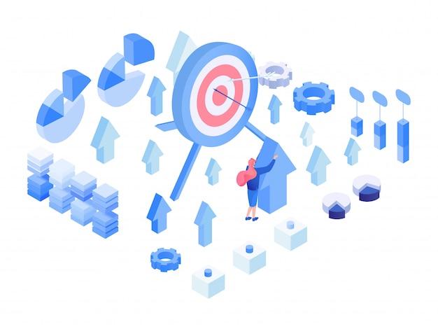 データ分析、測定基準等尺性セット