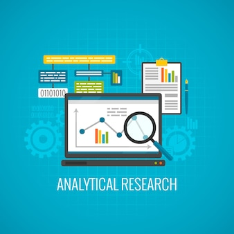 데이터 및 분석 연구 아이콘
