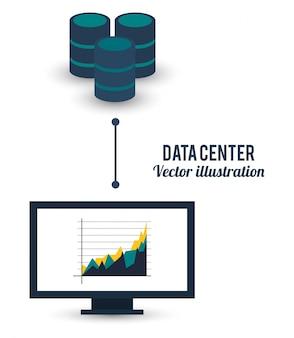 데이터 센터 컴퓨터 비즈니스 그래프 연결