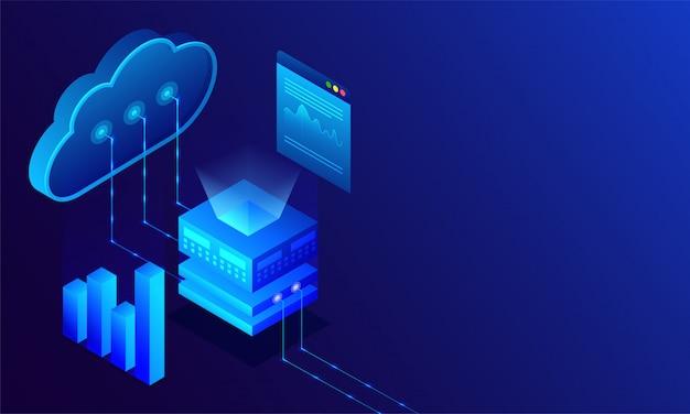 Data center concept.