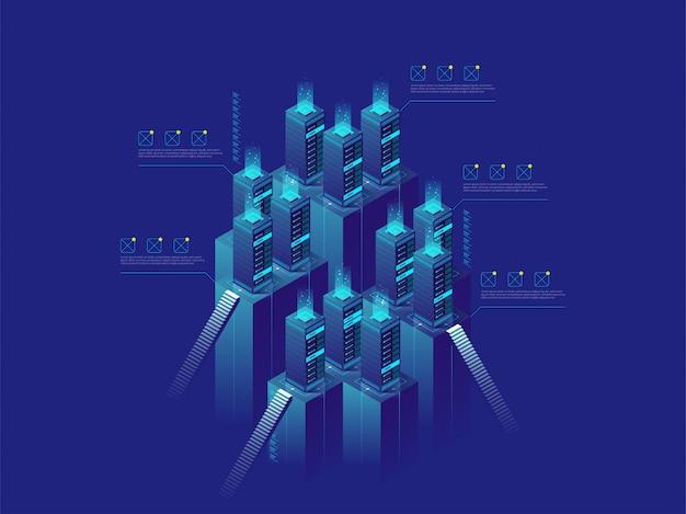 Data center and data exchange, cloud storage