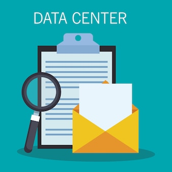 Data center email and clipboard
