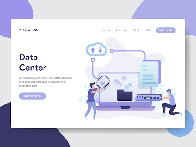 Data center illustration for website page